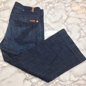 7 for all mankind crop dojo jeans